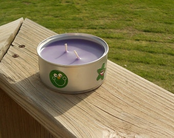 Deck/Patio Outdoor Candle In Recycled Tin Can, 6 Oz. You Choose The