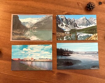 Vintage Canada Postcards circa 1960s/1970s (set of 4)