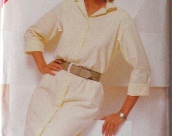 SALE - Button Front Shirtdress Sewing Pattern - Butterick 5471 - Sizes 16-18-20, Bust 38 - 42, Uncut