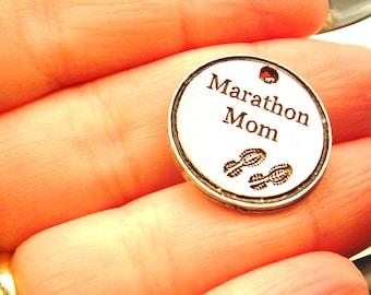 Marathon Mom charm