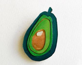 Avocado Jewellery Avo Brooch Original Wearable Art