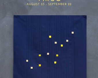 Virgo Constellation Block PDF pattern - Quilting Patchwork