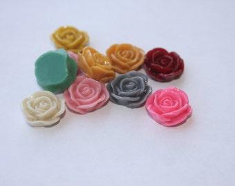 Cabochons en pétale ROSE 24 - 20mm - choisissent vos couleurs