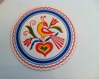 Vintage Paper Coasters Embossed Set of 12 - Like New