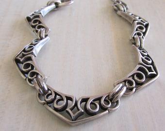 """Shadow Trading Design Link Sterling Silver Toggle Bracelet  6 1/2"""""""