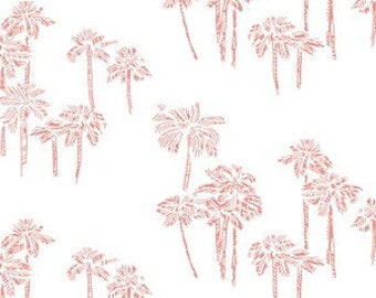 Baby Girl Bedding Palm Tree Crib Sheet / Changing Pad Cover / Pink Fitted Sheet / Coastal Baby Bedding Etsy / Tropical Nursery South Beach