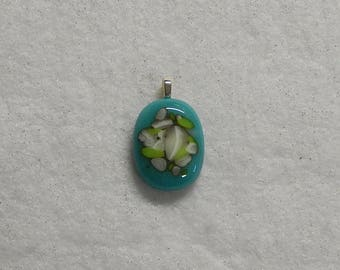 Fused Glass Pendant, Fused Glass Necklace, Turquoise Blue Pendant, Turquoise Blue , Turquoise Blue Necklace, Fused Glass, Jewelry,
