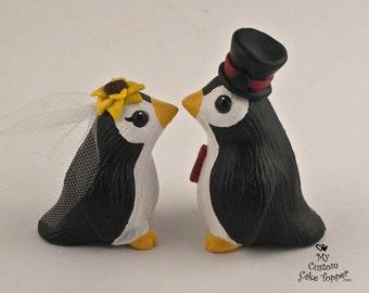 Penguin Wedding Cake Topper - Cute Pengies