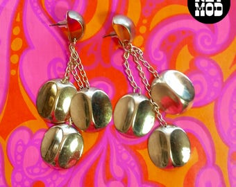 Vintage Gold Dangle Earrings - Perfect for the Disco Diva!