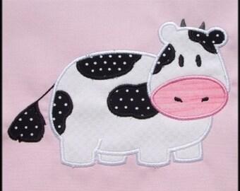 INSTANT DOWNLOAD Cow Applique designs 2 sizes