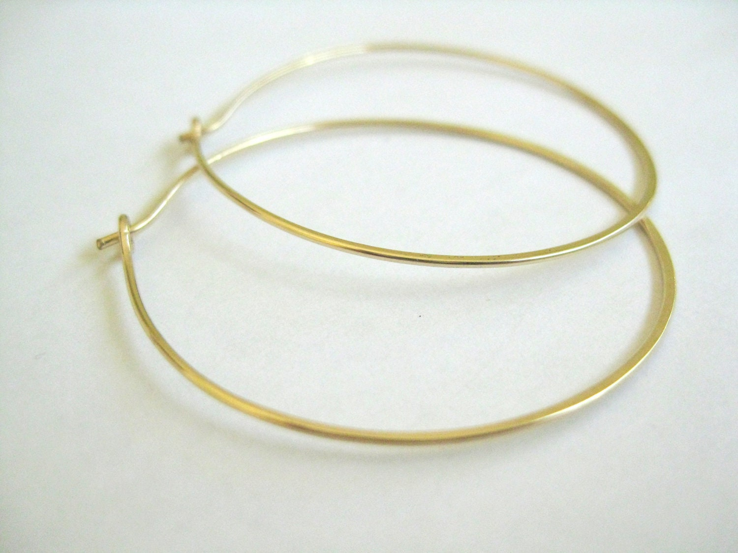 small serendipity products hoop in slim seoul gold and simple earrings sleeper