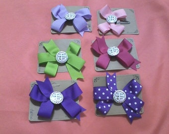 My First Hair Bow - Your choice of snap clip or partial covered alligator clip