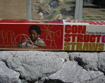 1976 Parker Brothers Con Struct-O-Straws Box Set