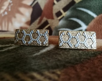 Cuff links Cufflinks Boutons de manchette Groomsmen gift Vintage cufflinks Gold colour cufflinks Retro cuff links Gift idea for men