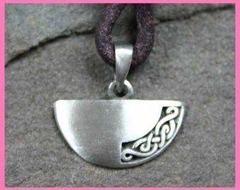 Leather Surfer Necklace with Celtic Knot Pendant