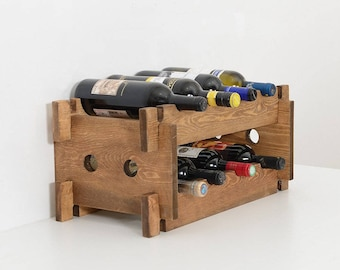 single wine small bottle racks rack index stand wood