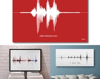 I Love You - Sound Wave Art