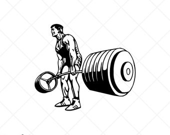 weight lifting svg etsy rh etsy com