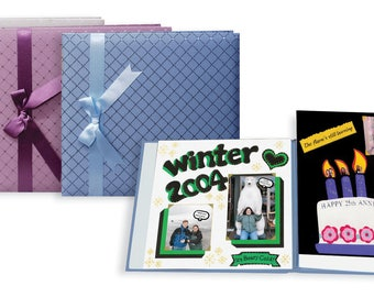 Pioneer® Diamond Fabric with Ribbon Scrapbook - 12 x 12 inches - 3 SCRAPBOOKS
