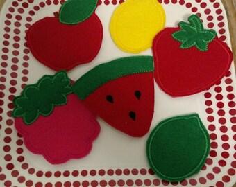 Fruit Play Food Pretend Kitchen Food Felt Set Toddler Learning Toy Montessori School Tool