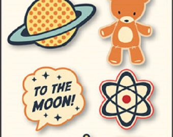 October Afternoon Rocket Age Rubber Charms
