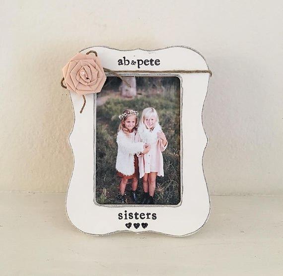 sister gift, sisters picture frame Big sister frame, little sister ...