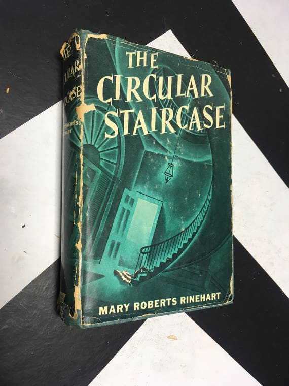 The Circular Staircase by Mary Roberts Rinehart vintage noir mystery green book (Hardcover, 1941)