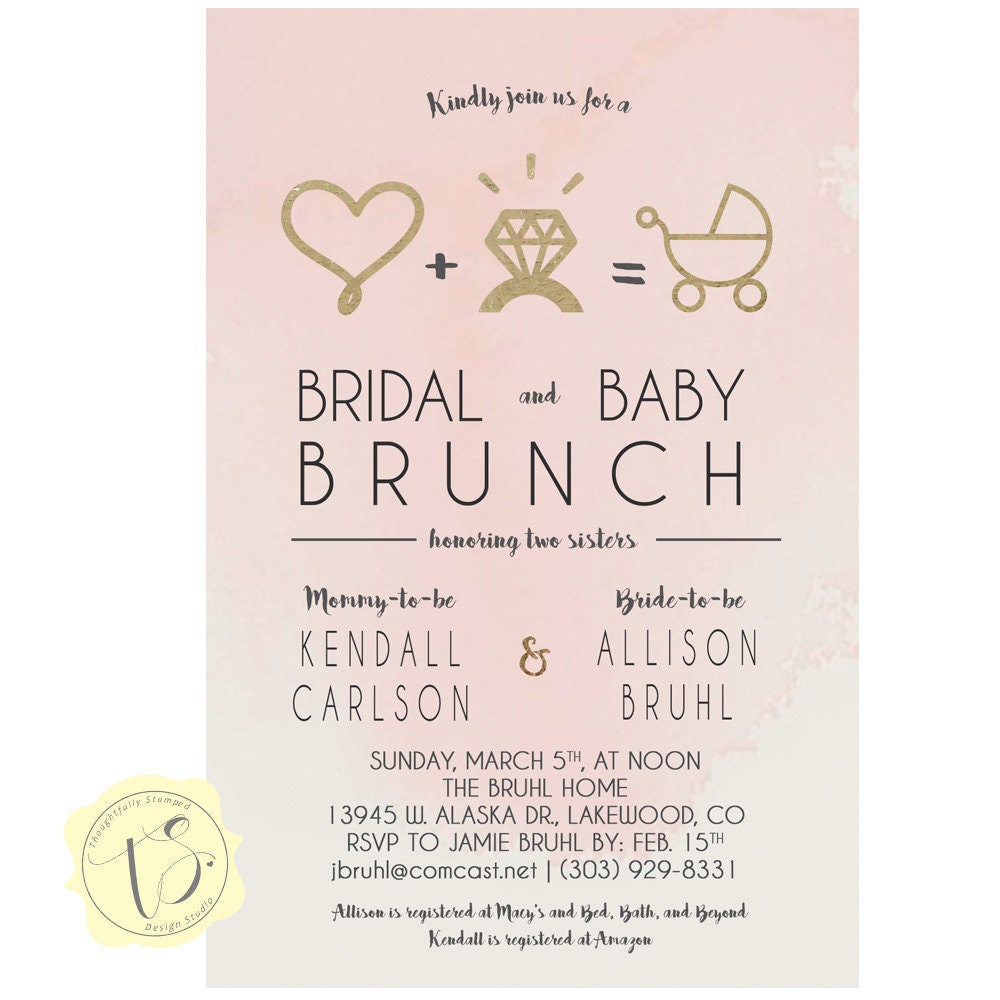 Joint Bridal Shower and Baby Shower Invitation