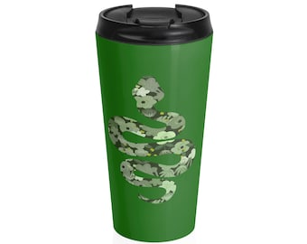 Slytherin Floral Steel Travel Mug