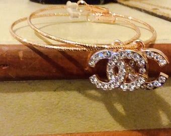 Rosegold hoop gorgeous high fashion designer brand earrings