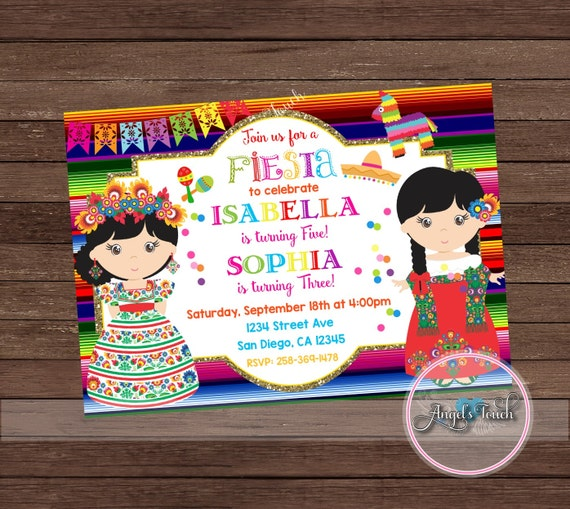 Fiesta party invitation fiesta mexicana birthday invitation chalk fiesta party invitation fiesta mexicana birthday invitation chalk joint girl mexican fiesta birthday party invitation digital file from filmwisefo