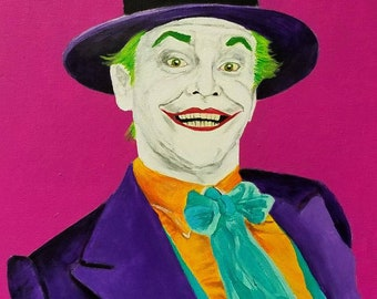 The Joker Jack Nicholson 16x20 acrylic painting