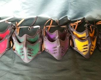 Mortal Kombat mask - Leather Mask - Cosplay Armor
