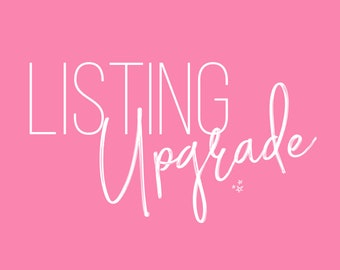 Listing Upgrade: Rush My Order