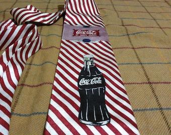 Vintage Coca Cola Silk Necktie Coca Cola Silk Tie