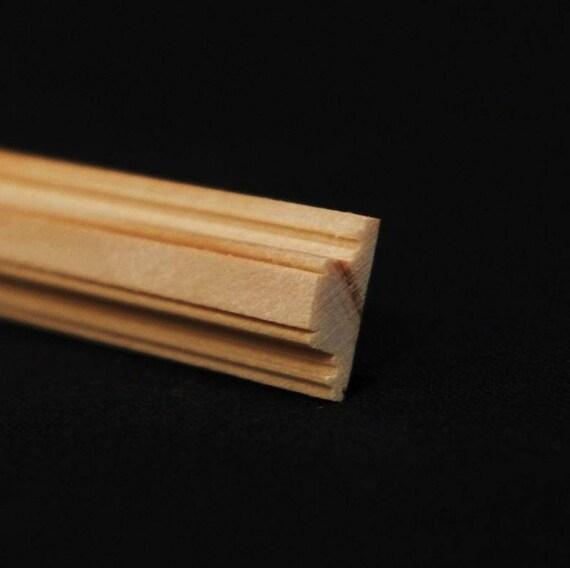 Leiste , Holz natur unbehandelt,  für das Puppenhaus, für den Modellbau, für den Krippenbau # 23567