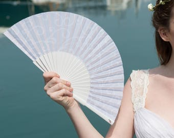 WEDDING FANS | white folding hand fans | bridal accessories | wedding favors | bridesmaid gift | wedding gift | Free Shipping Worldwide