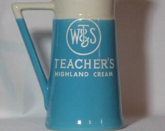 Vintage Teacher's Highland Cream Scotch Whisky Water Pitcher