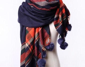 Christmas gift,Warming scarf,shawls, plaid scarves