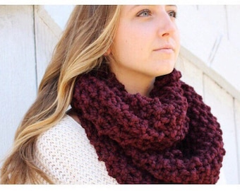 Cozy Textured Chunky Infinty Scarf