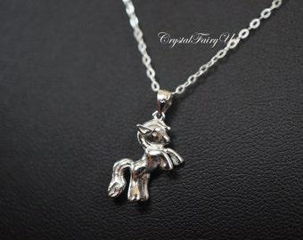Sterling Silver Pony Necklace, Tiny Horse Pendant, 925 Silver Horse Necklace, Children Jewelry, Children Necklace