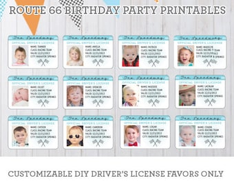 DIY Radiator Springs Vintage Cars Birthday Party Printables - Driver's License Party Favors