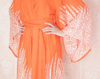 """Dream catcher. One readymade """"Noguchi"""" kimono robe in an exquisitely soft rayon fabric. Super soft rayon robe. US size 4-6"""