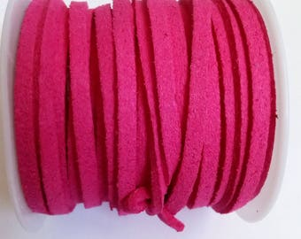 1 m 3mm hot pink suede cord
