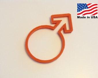 Male Symbol Cookie Cutter in Plast-Clusive