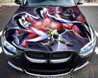 Car Truck Hood Graphics Fantasy Evil Hand Vinyl Decal Full Color Sticker  Auto Bonnet Wrap