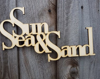 Sun Sea & Sand Wall Art - Wall Text