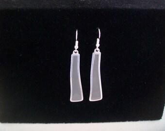 Green gray Silver Earring