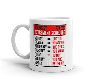 Retirement gift for biologist retirement gift Retirement mug for biologist retirement mug retiring biologist gift for retiring biologist mug