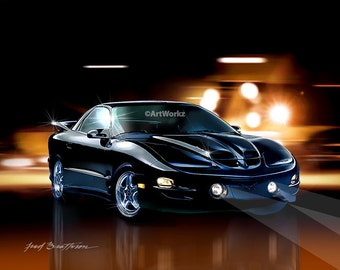 Muscle Car - 2002 Pontiac Trans Am WS6 - Hot Rod Art - 8 x 10 Giclee Print w/ 11 x 14 Mat, AW73